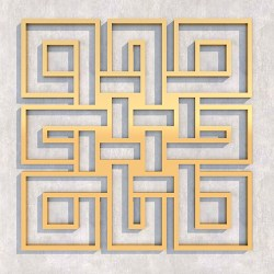 FENGSHUI_Endless_knot_Square_Gold-1